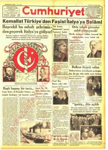 kemalist türkiyem den faşist italya ya selam manşeti